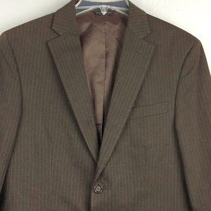 Banana Republic Mens Brown Stripe Jacket 38S